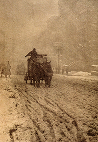 Winter on Fifth Avenue, 1893.